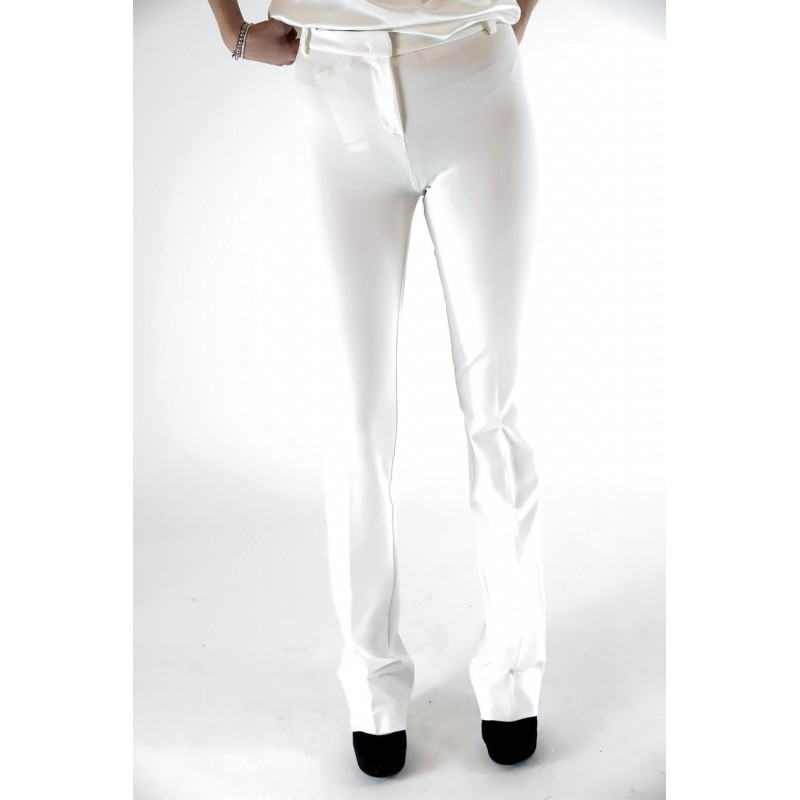 PINKO - Pantalone ALLIEVO in punto stoffa - Bianco