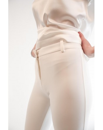 PINKO - ALLIEVO full Milano trousers - White