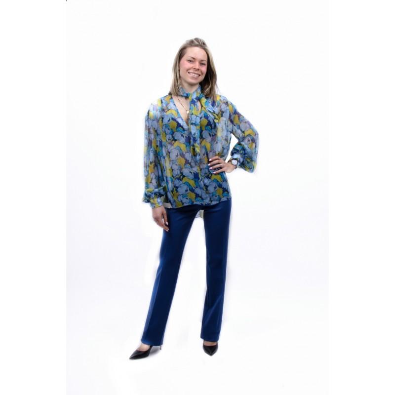 PINKO - Pantalone in Punto Stoffa ALLIEVO - Blu