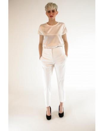 MAX MARA  - Pantalone in cotone - Bianco