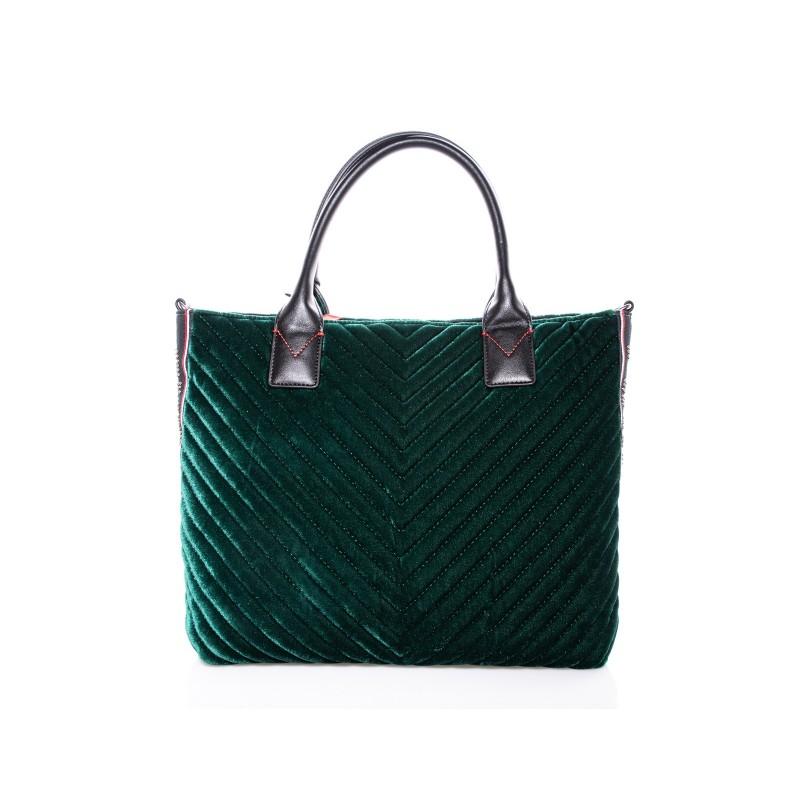 PINKO - Borsa Shopping ADAMS in velluto - Verde