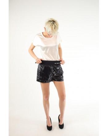 PINKO - Glossy effect Shorts ORIENTARE - Black