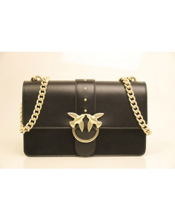 PINKO - Borsa in Pelle LOVE SIMPLY - Black