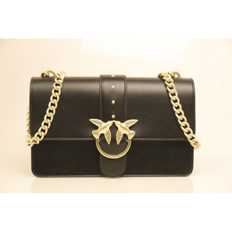 0841479f1b PINKO - Borsa in Pelle LOVE SIMPLY - Black