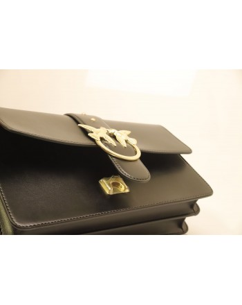 PINKO - Leather Bag LOVE SIMPLY - Black