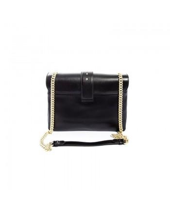 PINKO - Leather Bag BIG LOVE SOFT - Black