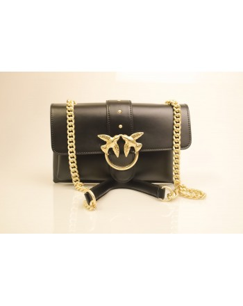 PINKO - Borsa in Pelle MINI LOVE SOFT - Nero