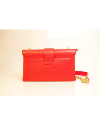 PINKO -Leather Bag MINI LOVE SOFT - Red
