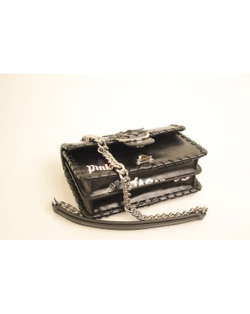 PINKO - MINI LOVE FABULOUS Leather Bag - Black