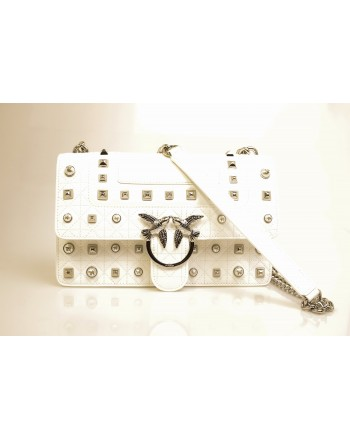 PINKO - IDILLIO Medium Leather bag - White