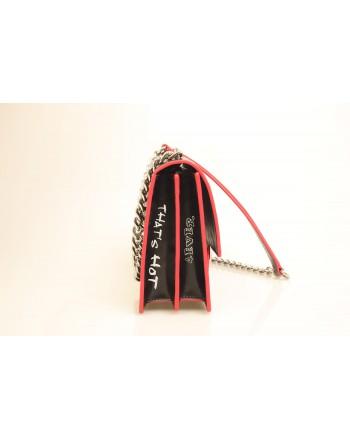 PINKO -  LOVE FABULOUS Leather bag - Black