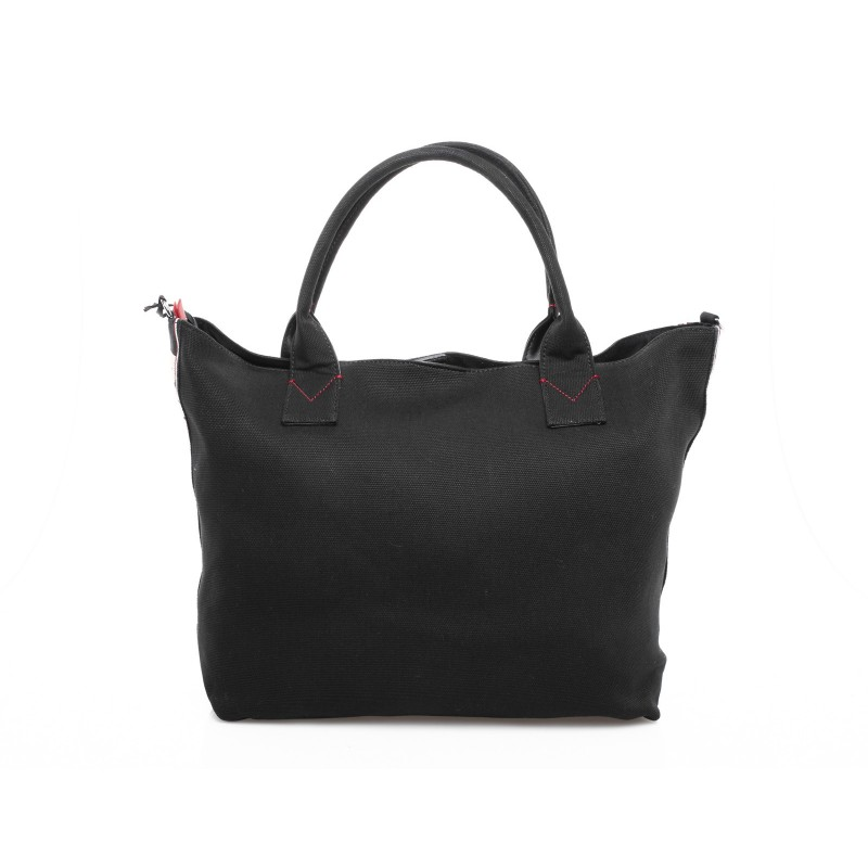 PINKO - Borsa Shopping CRISPO in canvas - Nero