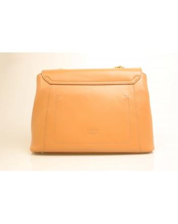 PINKO  ABBONDANZA leather bag - Light Brown