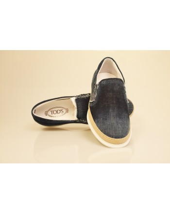 TOD'S - Slip On in Denim - Denim
