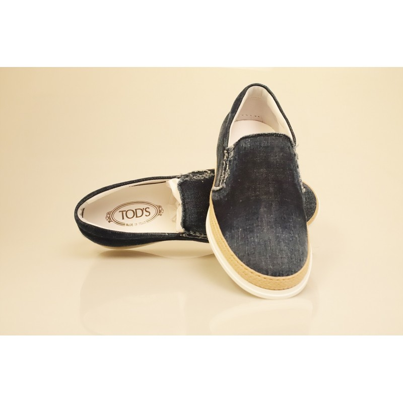 TOD'S - Denim Slip On - Denim