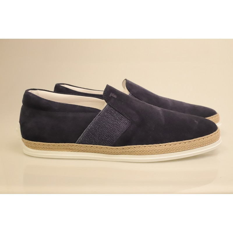 TOD'S - Suede Slip On - Blue