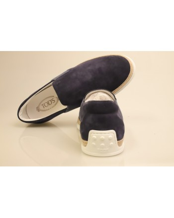 TOD'S - Slip On in Pelle Scamosciata - Blu