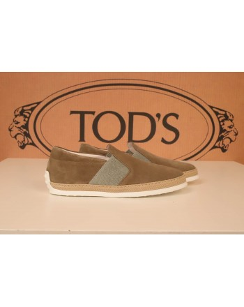 TOD'S -  Slip On in Pelle Scamosciata - Torba
