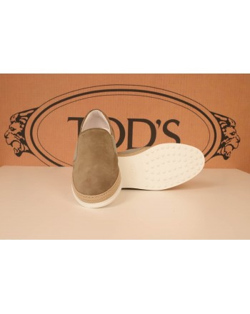TOD'S - Suede Slip On - Light Brown