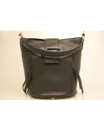 TOD'S -Borsa Secchiello in pelle - Black