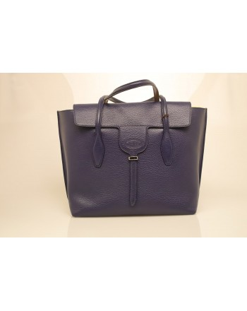 TOD'S - Borsa Shopping in pelle - Blu