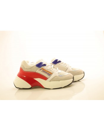PINKO - Technical Fabric Sneakers - White/Red/Blue