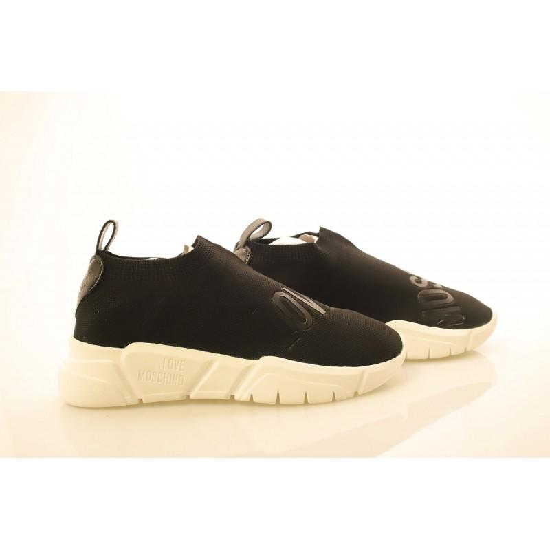 LOVE MOSCHINO - Sneakers in tessuto tecnico - Nero
