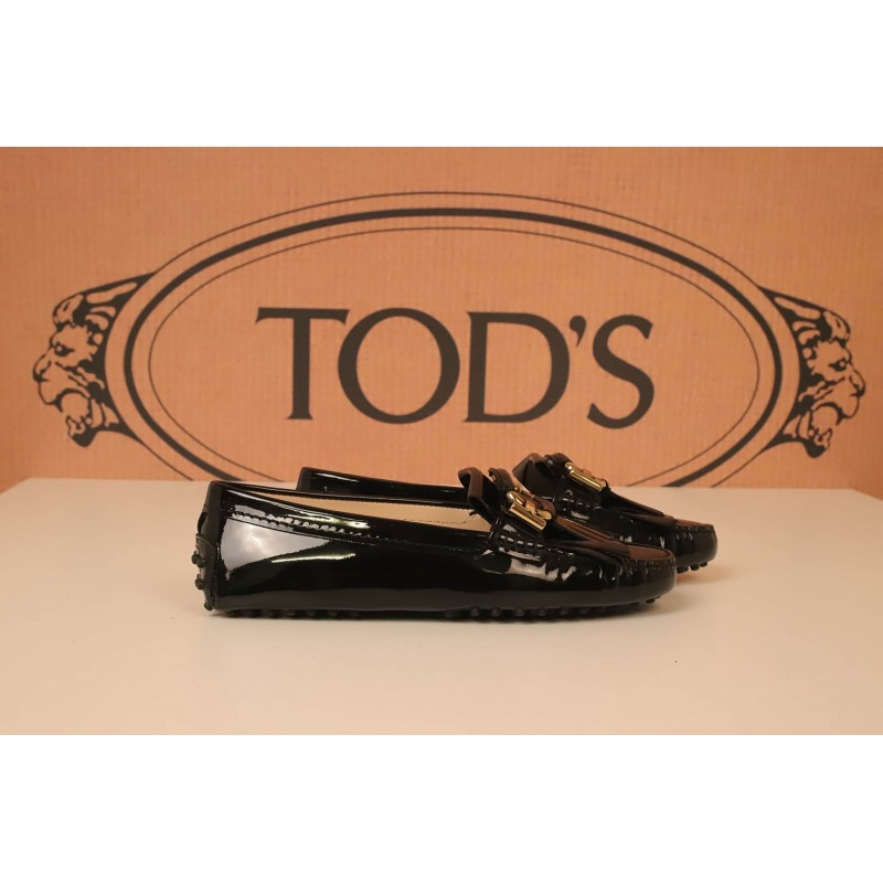 TOD'S - Patent leather Rubber Shoe - Black