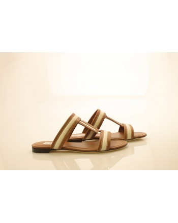 TOD'S - Leather Sandals - Brown