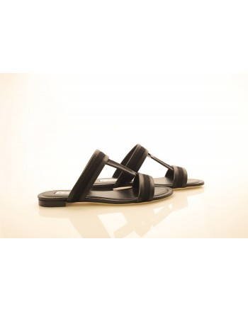 TOD'S - Leather Sandals - Black