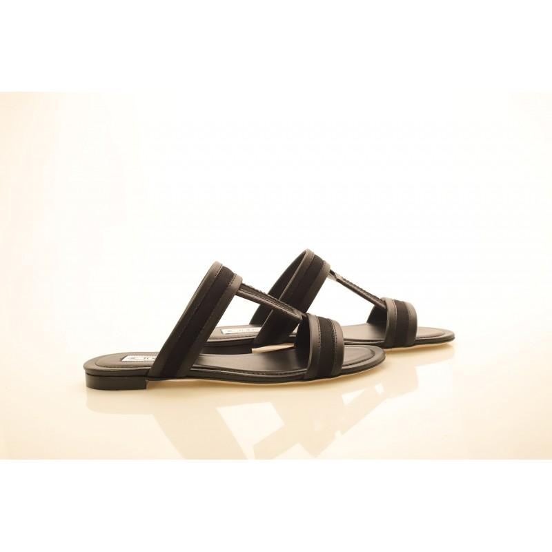 TOD'S - Sandalo in pelle - Nero