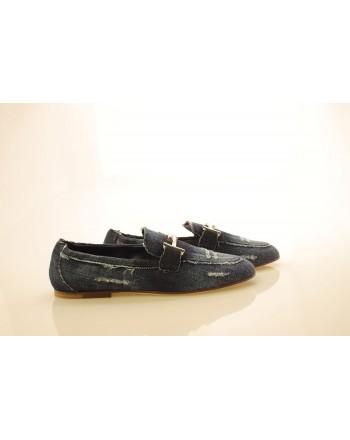 TOD'S - Denim Loafers - Denim