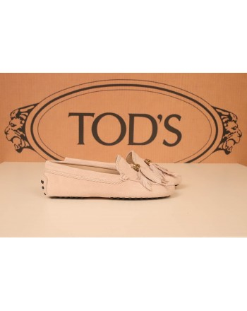 TOD'S - Suede leather Loafers - Pink