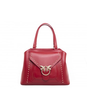 PINKO - AVOSSA Bag in veal and silk - Red