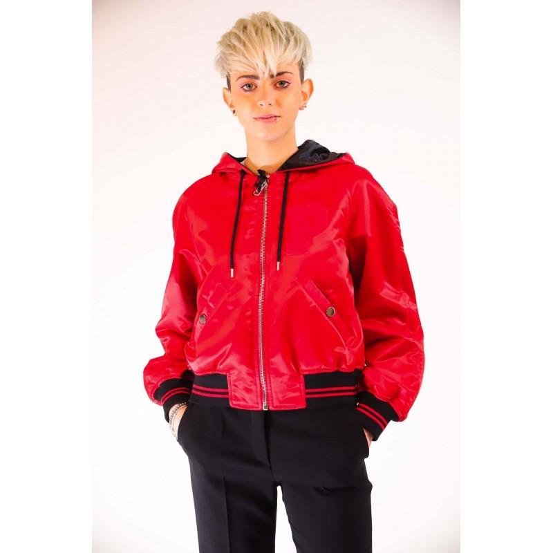 PINKO -   REGALE Bomber Jacket  - Red/Black