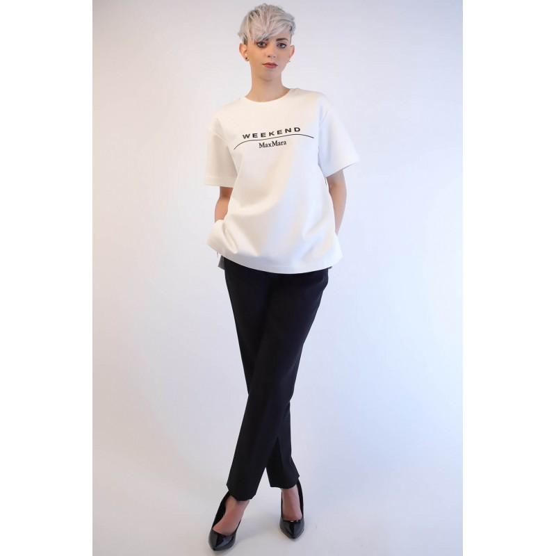 WEEK END MAX MARA - Cotton T-Shirt  - Bianco