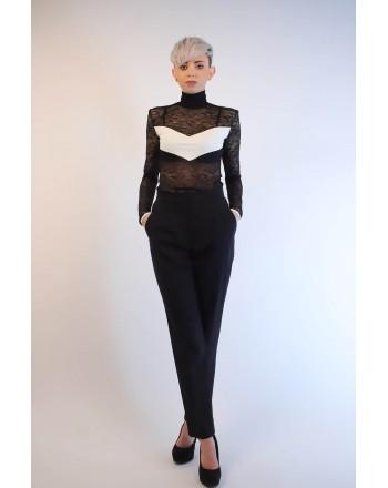 PINKO - Lace Bodysuit NARCISISTA - Black/White