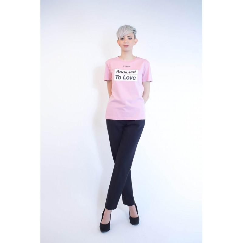 PINKO - Cotton T-Shirt SPONTANEO - Pink