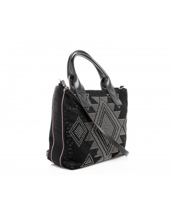 PINKO - Baitou Shopping Bag - Black