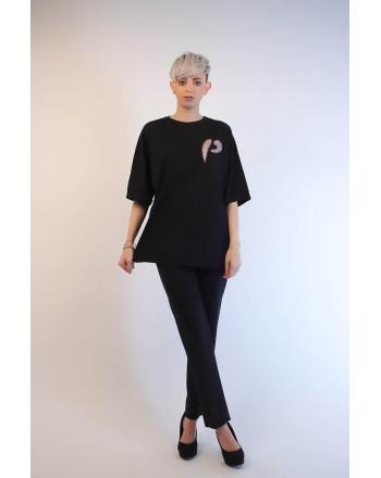 PINKO - PINKOSO Jersey T-Shirt - Black