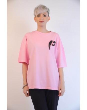 PINKO - PINKOSO Jersey T-Shirt - Pink