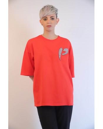PINKO - PINKOSO Jersey T-Shirt - Red