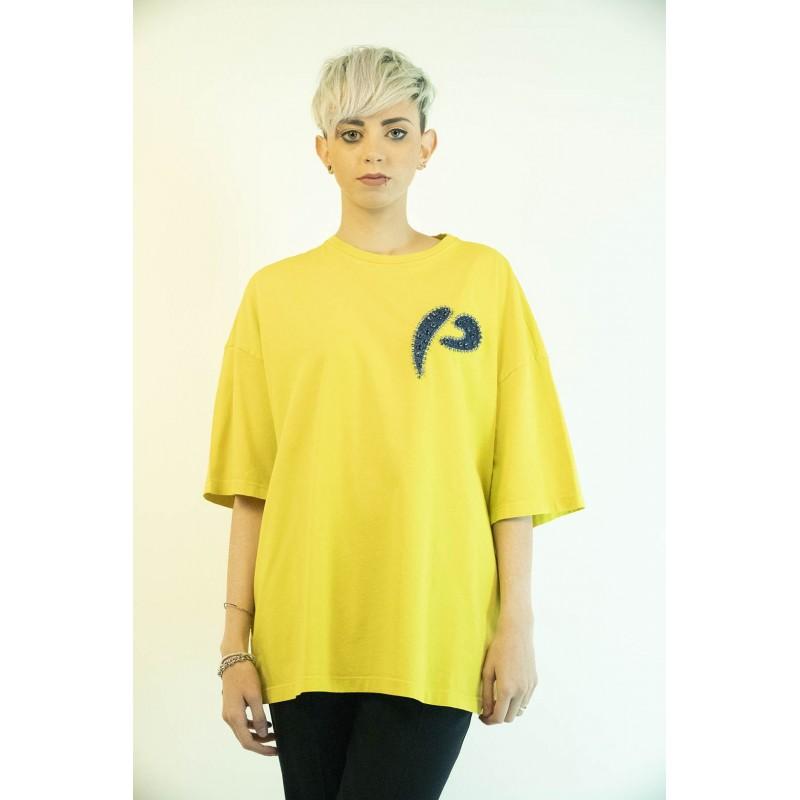 PINKO - T-Shirt PINKOSO in Jersey - Verde