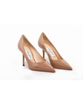JIMMY CHOO - Glossy Leather Pumps LOVE 83 - Ballet Pink