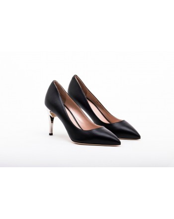 GIUSEPPE ZANOTTI - Leather G-HEEL Décolleté - Black