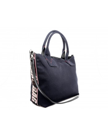 PINKO - Canvas Shopping Bag CRESTOSO - Blue