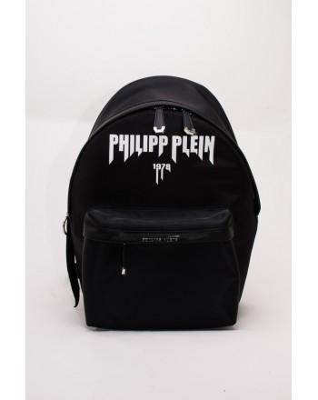 PHILIPP PLEIN - Zaino ROCK PP  in Tessuto con Tasca e Logo  - Nero