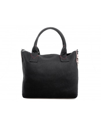 PINKO - Shopping in Canvas CRESTOSO - Nero