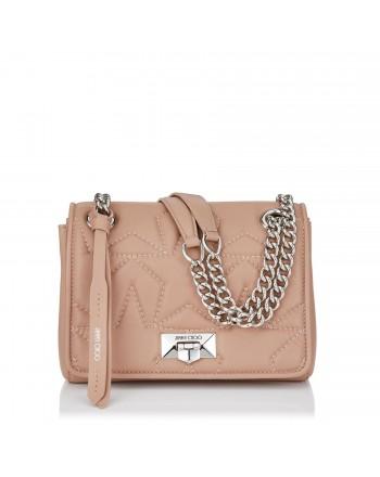 JIMMY CHOO - Matellassè Leather Shoulder Bag HELIA Small - Ballet Pink