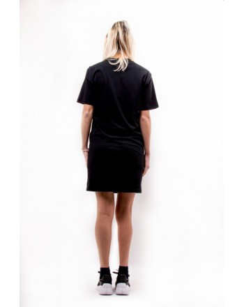MCQ BY ALEXANDER MCQUEEN - Front Logo SLOUCHY Dress - Black